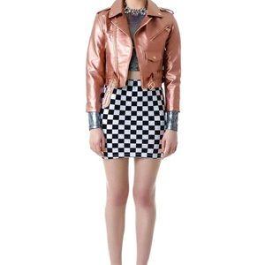NWT Zara faux leather skirt size S